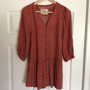 Tiered patterned tunic